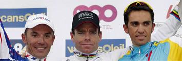 'Purito', Evans y Contador