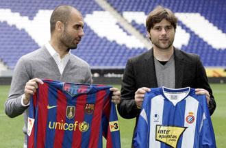 "Pochettino vio a ""un buen Espanyol"" ante el Bar�a de Guardiola"