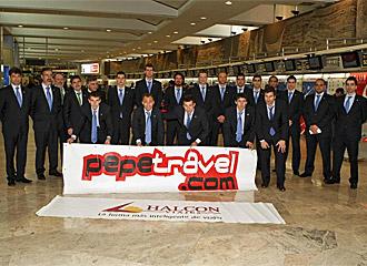La expedici�n del Inter Movistar posa para MARCA en Barajas.
