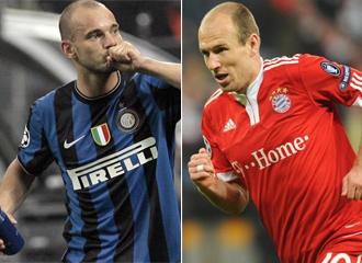 Sneijder y Robben siguen dando que hablar