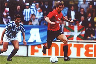 Jan Urban, en una imagen de archivo, durante un partido con Osasuna en la temporada 1991-1992
