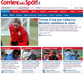 Informaci�n del 'Corriere dello Sport' sobre Torres y Ben�tez