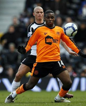 Charles N'Zogbia, en un partido con el Wigan