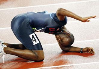 Merrit, tras lograr la medalla de oro en Pek�n