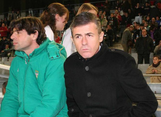 Lucas Alcaraz, antes de un partido.