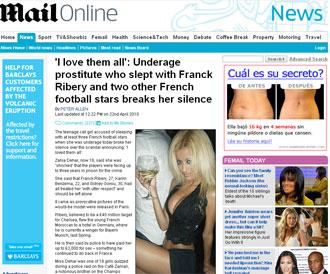 La informaci�n del 'Daily Mail' sobre el esc�ndalo de la meretriz