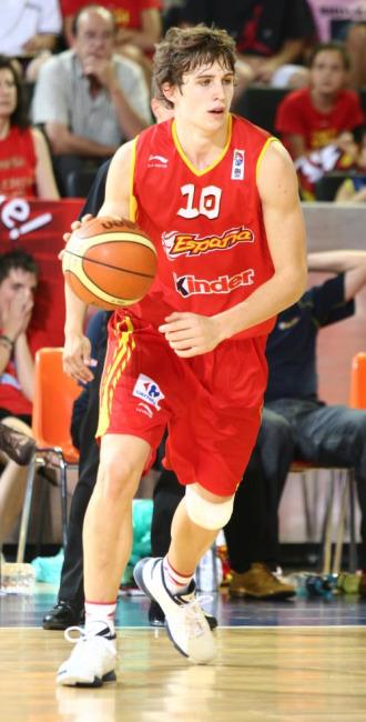 Xavi Rabaseda, con la camiseta de la selecci�n.