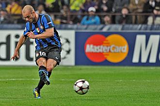 Sneijder fue uno de los artifices del triunfo interista ante el Barcelona en la ida.