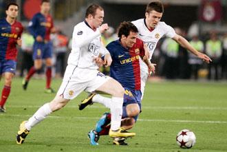 Rooney y Messi en la pasada final de la Champions