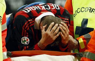Beckham se lesion� en su segunda etapa como cedido en el Mil�n
