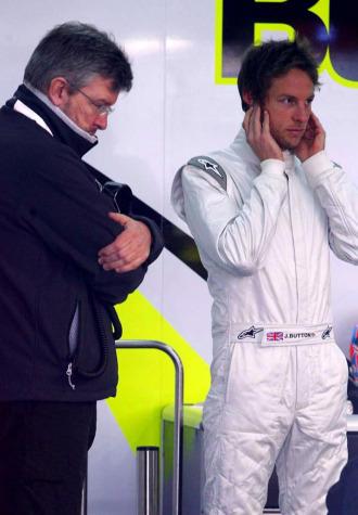 Ross Brawn y Jenson Button, la temporada pasada