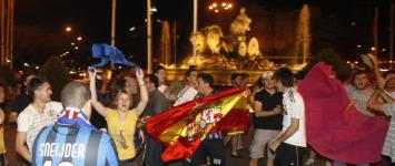 La afici�n madridista lo celebr� en La Cibeles