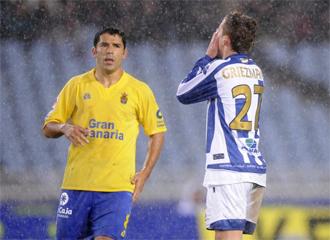 Darino, durante un encuentro de esta temporada con Las Palmas