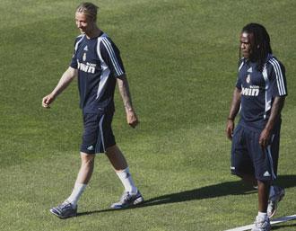 Guti y Drenthe se ha vuelto a retirar del entrenamiento