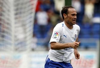 Nino celebra un gol con el Tenerife