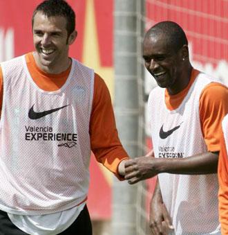 Marchena y Miguel en un entrenamiento