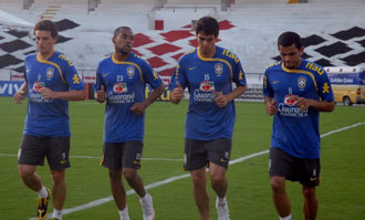Kak�, Alves, Robinho y Elano