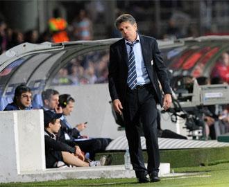 Puel, durante el encuentro contra el Bayern de M�nich.