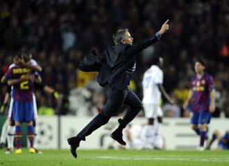 Mourinho celebra el pase a la gran final