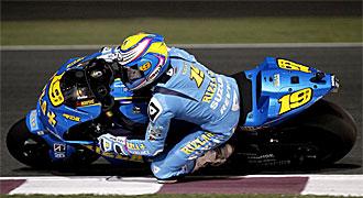�lvaro Bautista, durante la sesi�n de calificaci�n del Gran Premio de Qatar