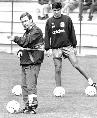 Michel y Clemente en un entrenamiento con la selecci�n