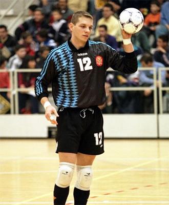 Luis Amado, durante uno de sus primeros partidos como jugador de la selecci�n espa�ola