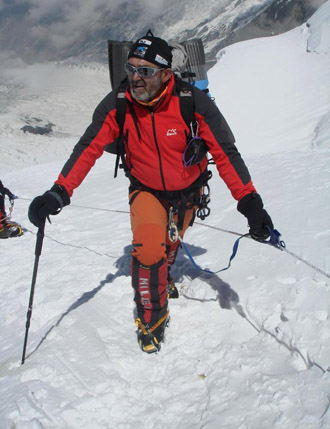 Juanito Oiarzabal, en el Annapurna