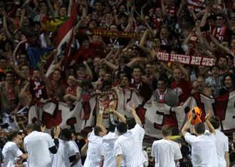 El Bayern celebra su pase a la final de la Champions