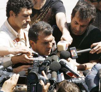 Laporta atiende a la prensa