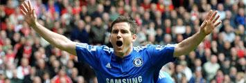 Lampard celebra un gol