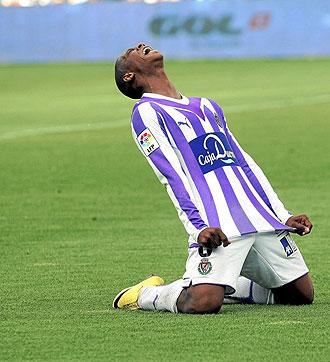 Pel� grita de desesperaci�n durante el Valladolid-Getafe.