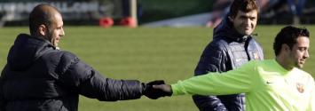 Guardiola y Xavi