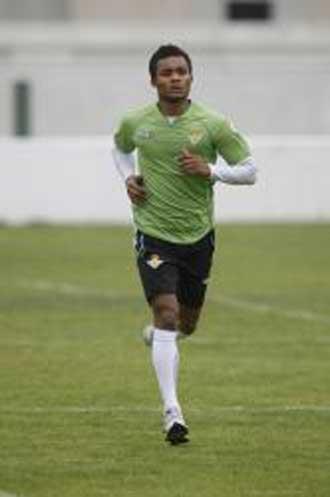 Nelson en un entrenamiento del Betis