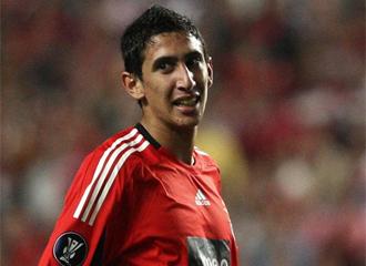 Di Mar�a, en un partido con el Benfica.