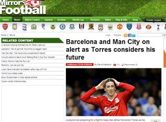 Informaci�n del 'Daily Mirror' sobre Torres