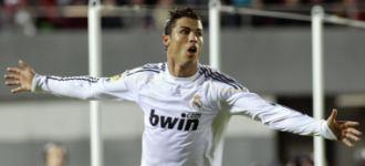 Cristiano Ronaldo celebra uno de los tres goles marcados en Mallorca.