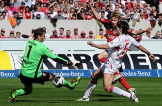 Jens Lehmann, en un partido del Stuttgart esta temporada
