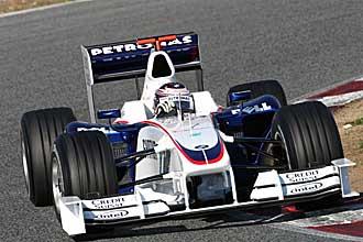 Christian Klien, durante una prueba a los mandos del BMW Sauber