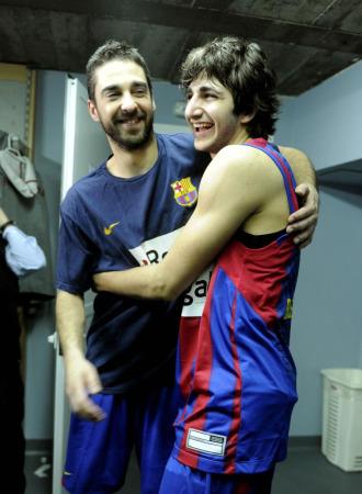 Ricky y Navarro celebran su pase a la Final Four