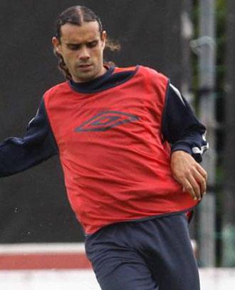 Sergio Ortega en un entrenamiento