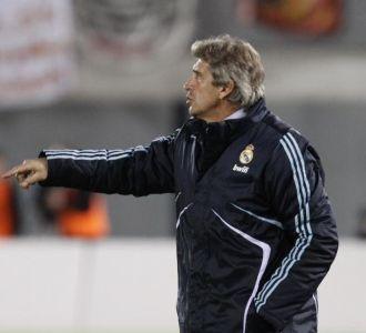 Pellegrini durante el partido en Palma