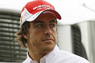 Fernando Alonso, en el circuito de Montmel�