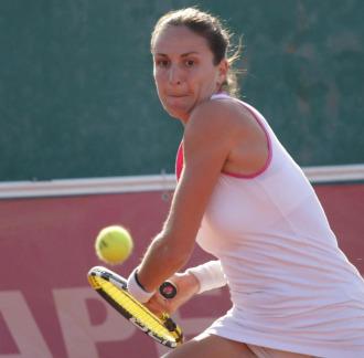 Arantxa Parra, en el Campeonato de Espa�a en 2009.