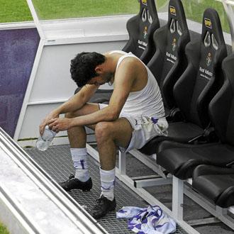 Diego Costa, desolado despu�s del empate ante el Getafe