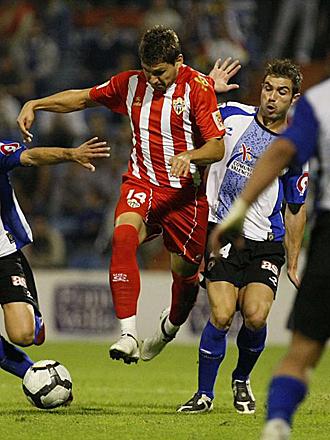 �lex Quillo, en el partido de Copa del Rey de esta temporada entre el Almer�a y el H�rcules