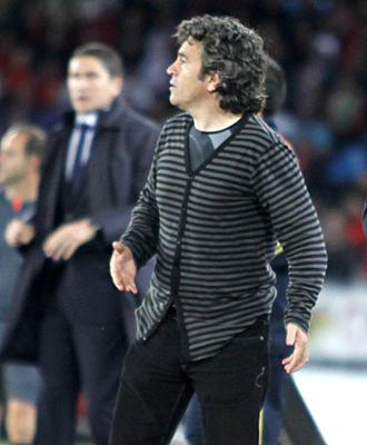 Juan Manuel Lillo, en el partido ante el Villarreal