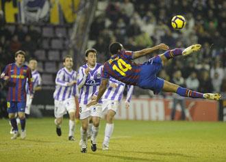 El Valladolid se la juega ante el Bar�a