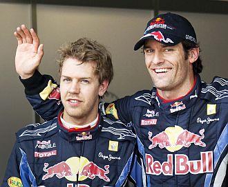 Vettel y Webber fueron tercero y primero, respectivamente