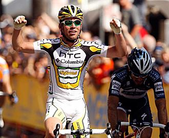 Mark Cavendish gan� al sprint la primera etapa del Tour de California