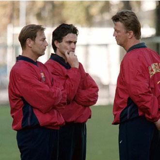 Mourinho y Van Gaal en su época en el Barcelona